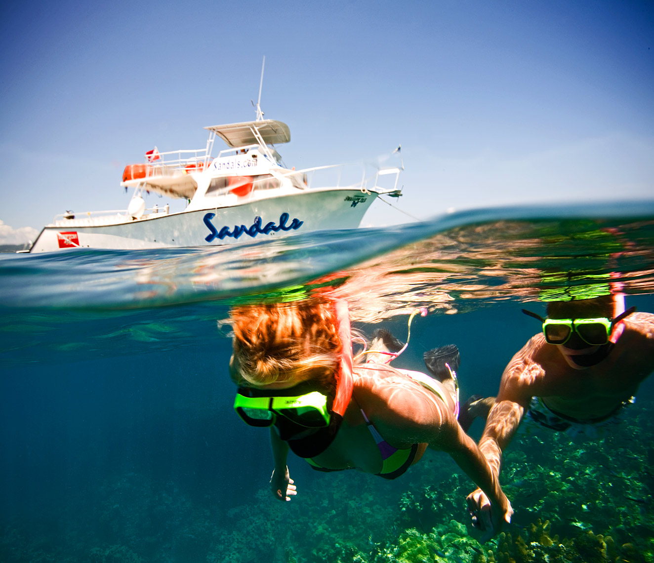 Couple Snorkeling in Jamaica.