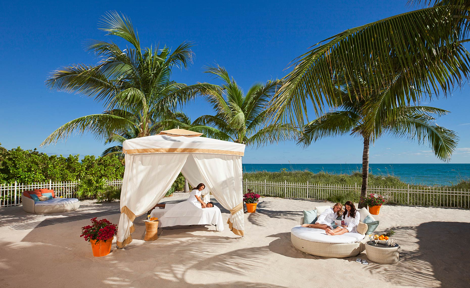Girls Spa Day at The Ritz-Carlton Key Biscayne, Miami.